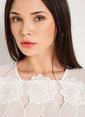 Xtsy Dantelli Uzun Kollu Bluz Beyaz